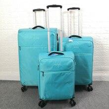 """Carrylove 20 """"24"""" 28 """"caso macio à prova dwaterproof água do trole 3 peças conjuntos de bagagem girador conjunto de caixas de viagem"""