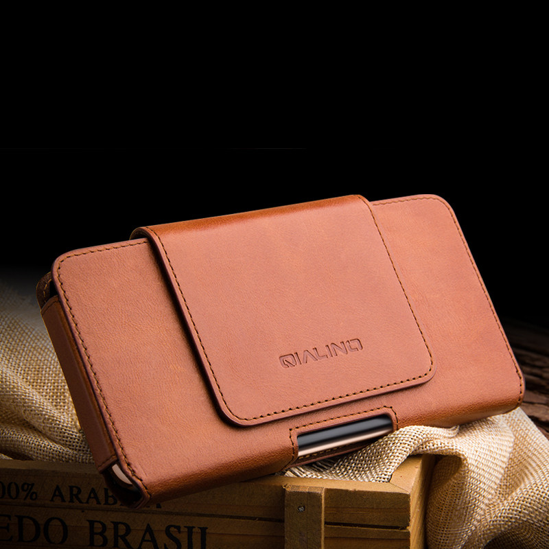 Image 2 - For iPhone 11 Pro Max Genuine Leather Phone Pouch Belt Clip  Leather Bag Cover Waist Case Pouch Cases For iPhone XS MAX XR  CasesWallet Cases