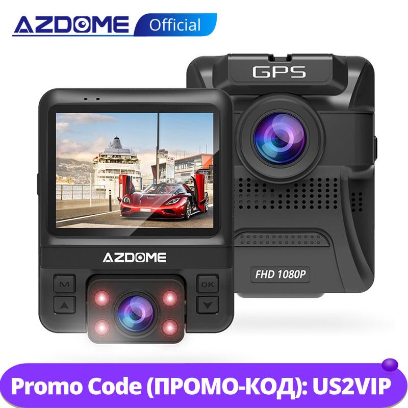 AZDOME GS65H Dash Cam Original Mini Dual Lens Car DVR Novatek 96655 Full HD 1080P Car Camera Night Vision For Uber Lyft Taxi