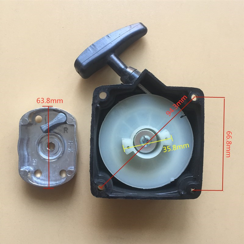 RECOIL STARTER & CUP FITS CHINESE 1E40F-5 40F-5 40-5 44F-5 BG430 CG430 2 STROKE BRUSHCUTTER STRIMMER PULL START CLAW COG