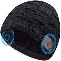 Wireless Bluetooth musica cappello berretto cuffia cuffia cuffia intelligente altoparlante con microfono Sport cappelli lavorati a maglia miglior regalo