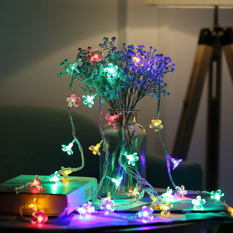 Cherry Blossom Lights String LED Fairy Lights Battery Christmas Garland Light Decor For Bedroom Party New Year Cherry Blossom