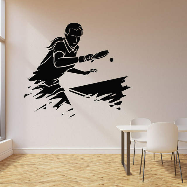 Online Play Ping Pong Wall Decal