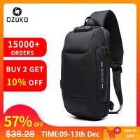 OZUKO 2019 nouveau sac à bandoulière multifonction pour hommes Anti-vol épaule Messenger sacs mâle étanche court voyage sac de poitrine Pack