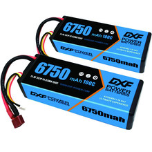 DXF Lipo Battery 2S 3S 4S 7.4V 11.1V 14.8V 5200Mah 6750Mah 6500Mah 50C 100C 200C for Rc 1/8 1/10 Buggy Truck Car Off-Road Drone