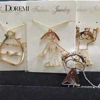 DOREMI Angepasst kinder Zeichnung Halskette Edelstahl Kid's Kunst Kind Kunstwerk Personalisierte Halskette Custom Name LOGO