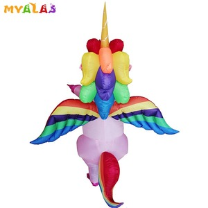 Image 3 - Unicorn Inflatable Costumes For Adult Women Men Pegasus Halloween Horse Pony Carnival Teen Cosplay Party Full Body Outfit Suit