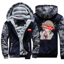 Neko Girl Waifu Men Winter Jacket Fleece Thick Warm Mens Jackets Ahegao Hoodie Sweatshirt Kawaii Girl Hoodie Militray Sportswear(China)