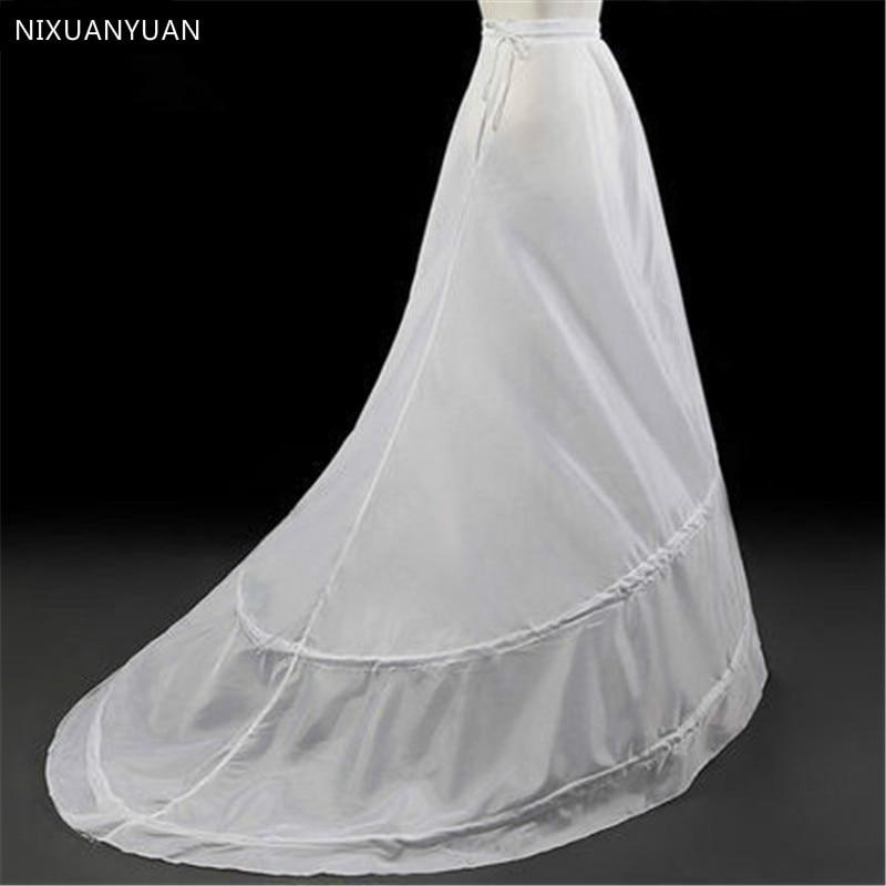White Mermaid Petticoats for Wedding Dresses 2020 Crinoline Jupon Women Underskirt Sottogonna Unterrock