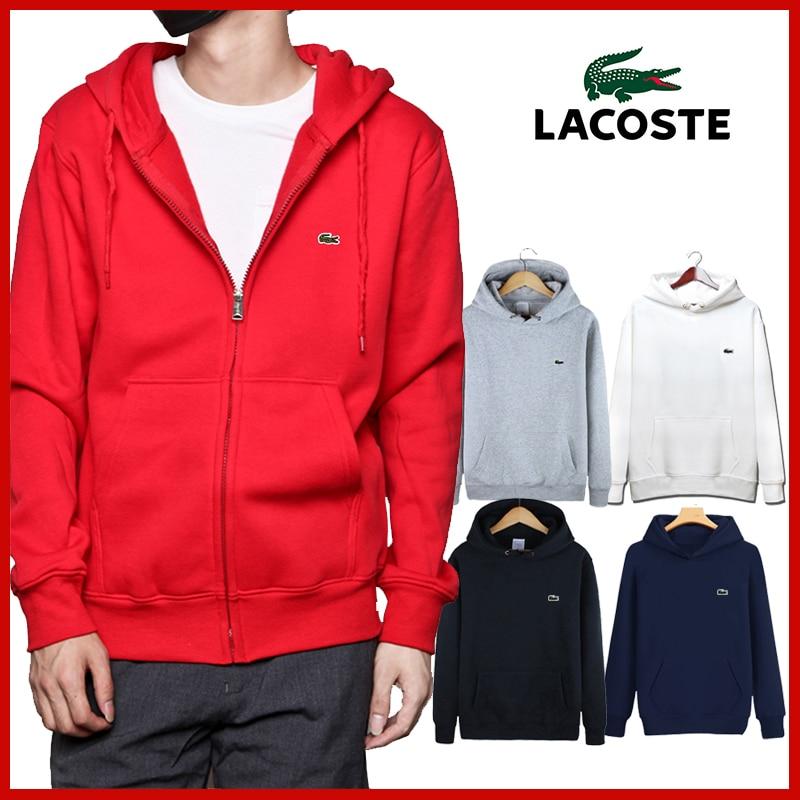 Lacoste- New Brand Hoodies Men Fashion Mans Sweatshirts Cotton Men's Hoodie 330