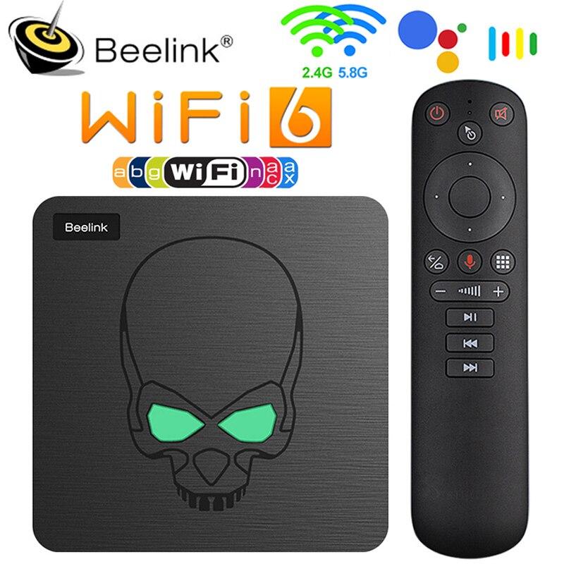 2021 Beelink GT roi WiFi 6 TV boîte Android 9.0 Amlogic S922X Quad Core 4GB RAM 64GB Bluetooth 4.1 1000M LAN USB3.0 décodeur