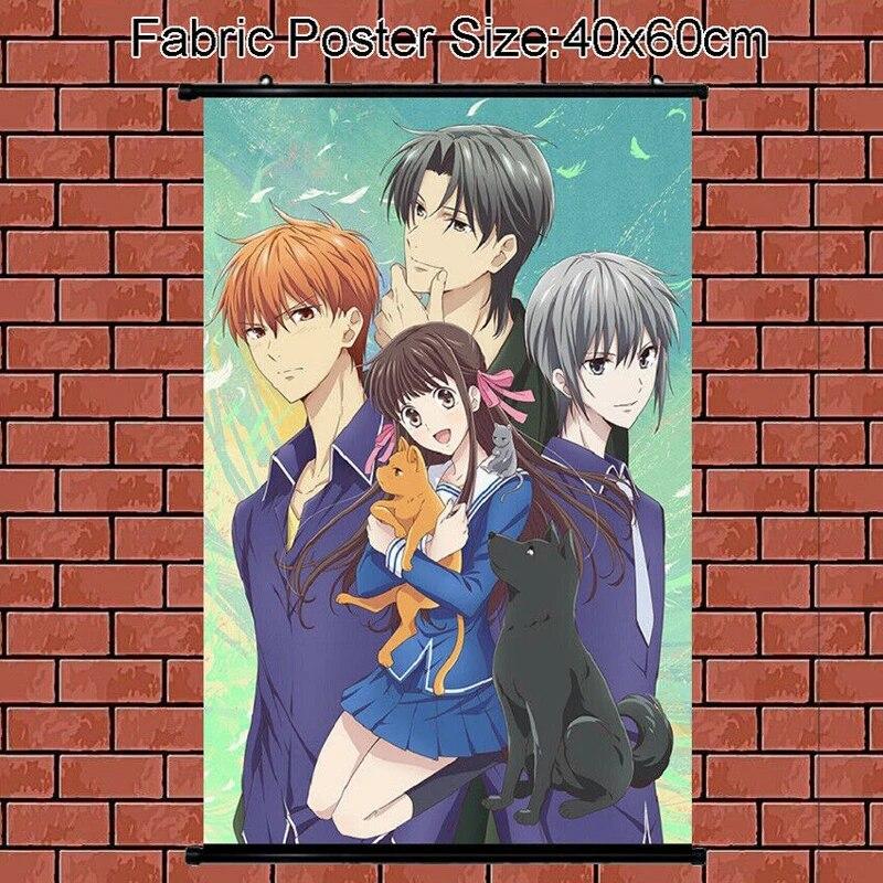 anime poster fruits basket tohru honda soma hatori wall scroll painting art prints home room decoration 60 40 90 60