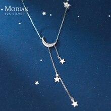 Modian 2020 Новая мода длинная цепь real 925 стерлингового серебра