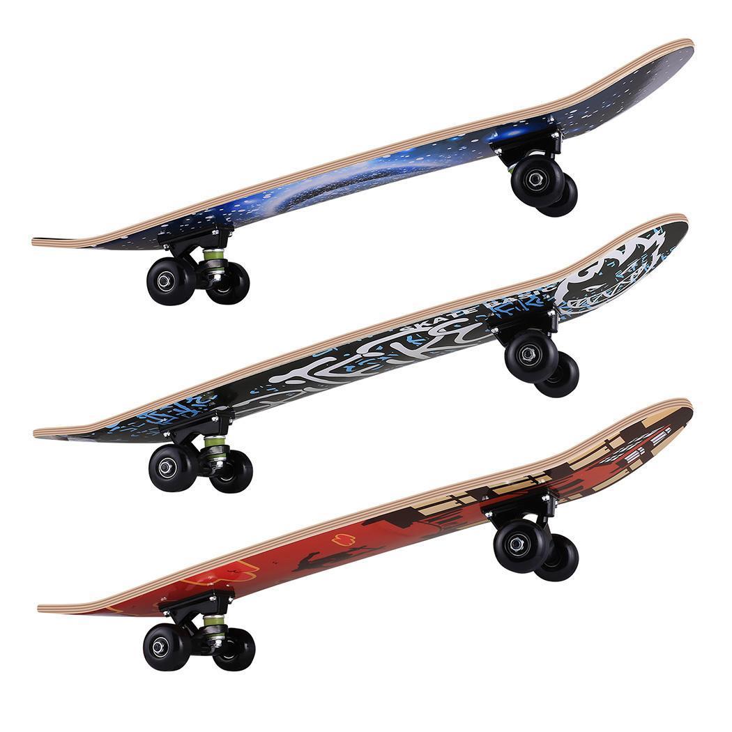 Double Kick Graffiti Skateboard for Teenagers & Adults