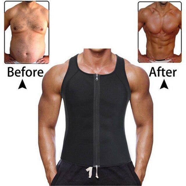 Men's Compression Slimming Best Shapewear T Shirt Vest for Waist Chest Trainer Fat Burner Shapewear Neoprene Vest Sweat Shirt 1