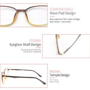 Image 4 - KANDREA 2020 Anti Blue Ray Eyeglasses Frame Acetate Square Glasses Frames Anti Blue Light Eyewear Clear Lens Optical Spectacles