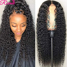 13X4 30'' Lace Front Human Hair Wigs Brazilian Kinky Curly Pre Plucked With Baby Hair Deep Jerry Curl Remy 150% Lace Frontal Wig
