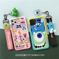 Para o iphone 11 pro max dos desenhos animados monstros vidro temperado flim + pára-choques macio para o iphone x xs max xr 7 6 s 8plus caso sailor moon + 2 cinta
