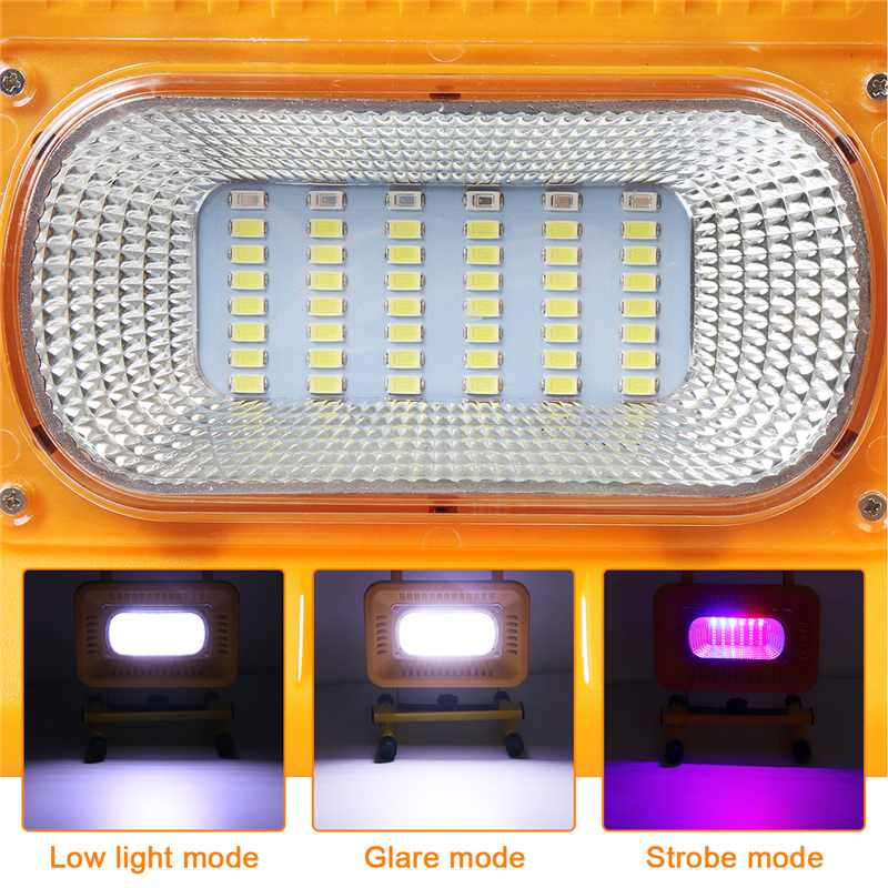 Portable LED Work-Light Cordless Rechargeable Lamp Waterproof Power Bank Outdoor