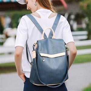 Image 3 - Bayanlar okul sırt çantası kese Dos Femme kadın omuz çantaları kadınlar için geniş tuval kayışı genç kızlar için sırt çantası Mochilas