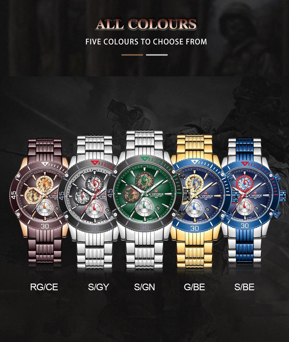 Hd58a8380d98e4a51acfae1af7366ac7am NAVIFORCE Men Watch Chronograph Military