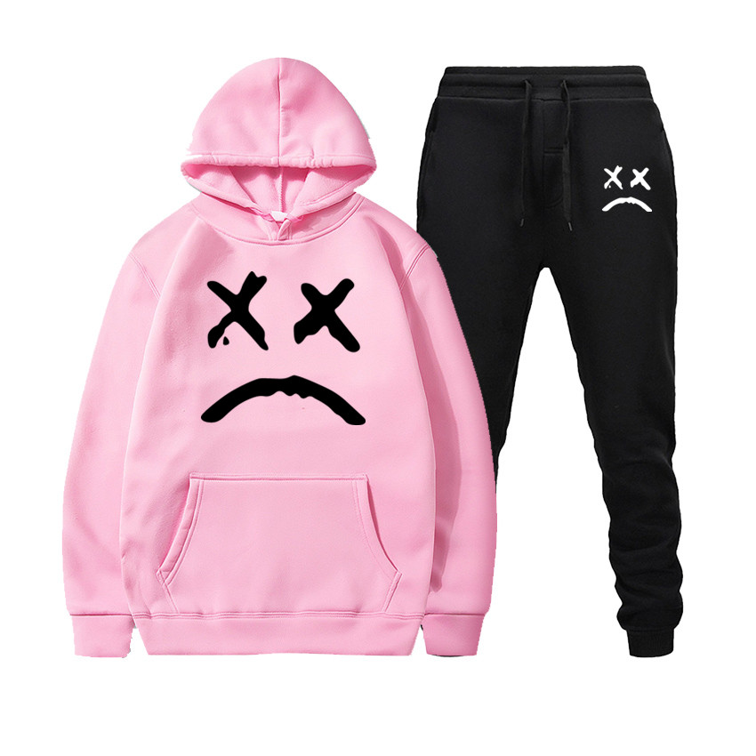 Image 5 - New Fashion Hoodie 2020 Mens Sports Funny Cute Sweatshirt + Sports Pants Set Casual Long Sleeve Thick Hoodie Clothing SetMens Sets   -