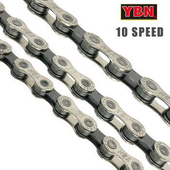 YBN SH10.93 , Nickel Plated 116 Link 10 Speed Chain FOR MTB Bike and road bicycle ybn bicycle titanium ultralight chains mtb mountain road bike 11 speed bicycle chain 116 links for shimano campanolo sram system