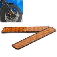 2 Pcs Motorrad Gabel Bein Reflektoren Set Für Harley Softail Dyna Sportster Honda Suzuki KTM Etc Motorrad Zubehör