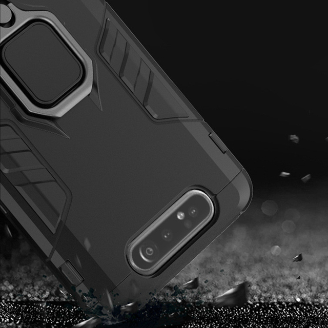 For Samsung Galaxy A80 Case Armor PC Cover Finger Ring Holder Phone Case For Samsung A 80 Case 360 Shockproof Bumper Hard Shell 5