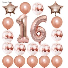 Twins Party SWeet 16st Happy Birthday Decorations Supplies 21st 30th 40th 50th 60th