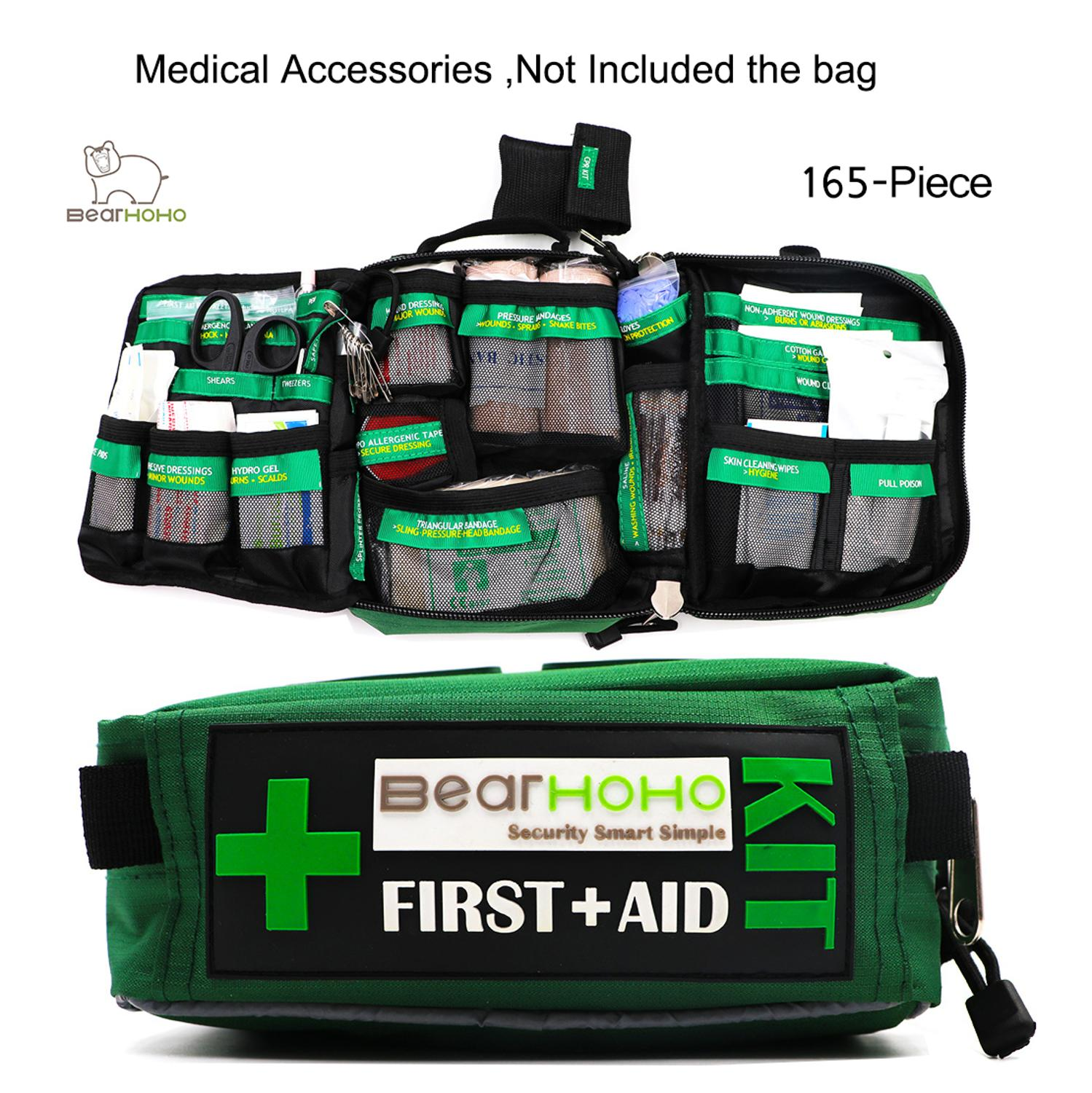 165 Pieces / Set Original Medical Supplies Medical Accessories Replacement Supplies For First Aid Kit Bag BF165G Not Include Bag