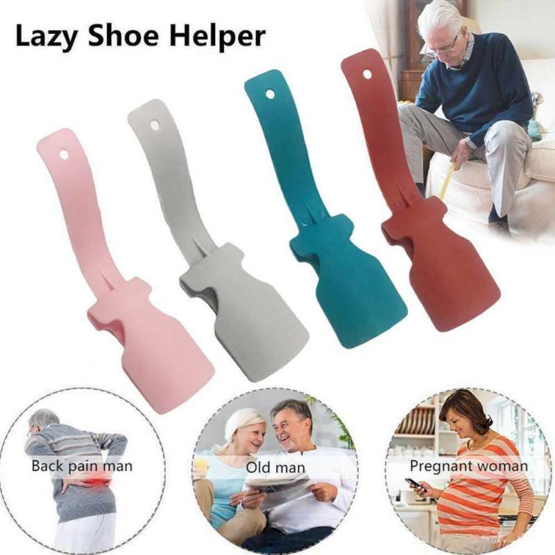 Shoe Horn Lazy Unisex Wear Shoe Horn Profession Convenient Helper Shoehorn Shoe Easy On And Off Sturdy Slip Aid Shoe Helper New