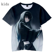 Demon Slayer Mode 3 Dtees Mode Kinderen Anime 3DT Shirt Jongens Meisjes T-shirts Kinderen Kimetsu Geen Yaiba Grey Korte Mouw(China)