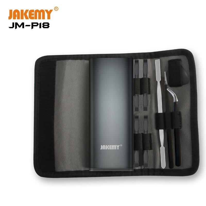 JAKEMY New Product JM-P18 Mini Precision Screwdriver Tool Set with Waterproof Oxford Bag for Mobile Phone Household DIY Repair