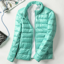 Short Slim Down Coats Women Autumn Winter Casual Solid Plus Size Light