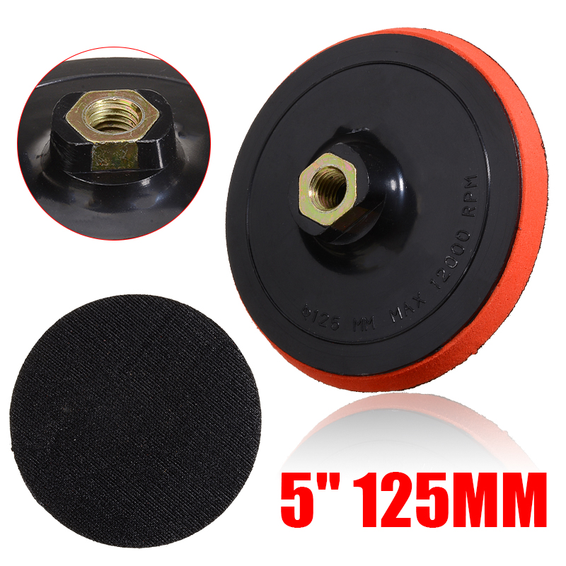 """1Pcs  5"""" 125mm M14 Sanding Pad Thread Adhesive Polishing Pad Adhesive Plate For Angle Grinder Power Tools Accessories"""