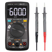 Multímetro Digital RM102Pro 6000 recuentos Auto 113D luz trasera AC/DC voltímetro transistor tester frecuencia Temperatura de diodo