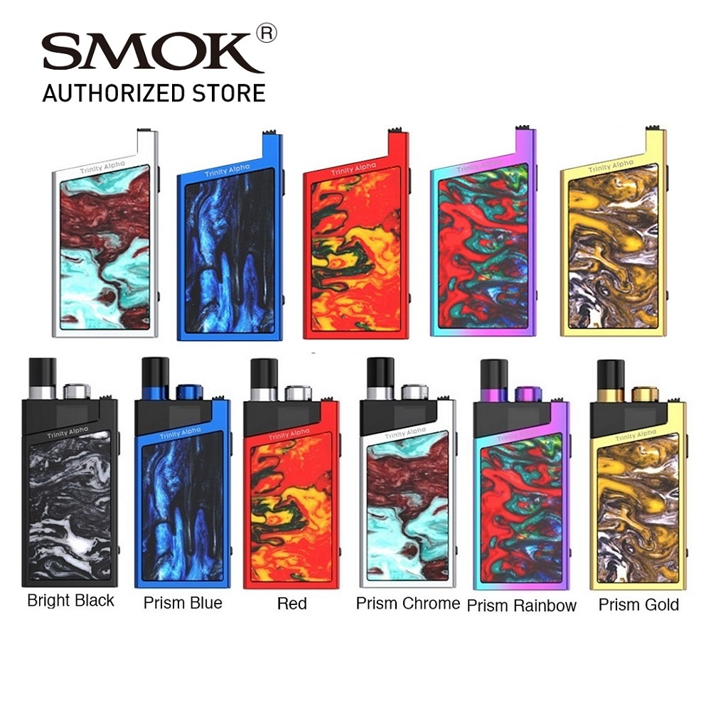 Originele Smok Trinity Alpha Pod Vape Kit W/1000 Mah Batterij 2.8 Ml Cartridge Smok Nord Coil Vs Vinci x/Navi Kit/Orion Kit