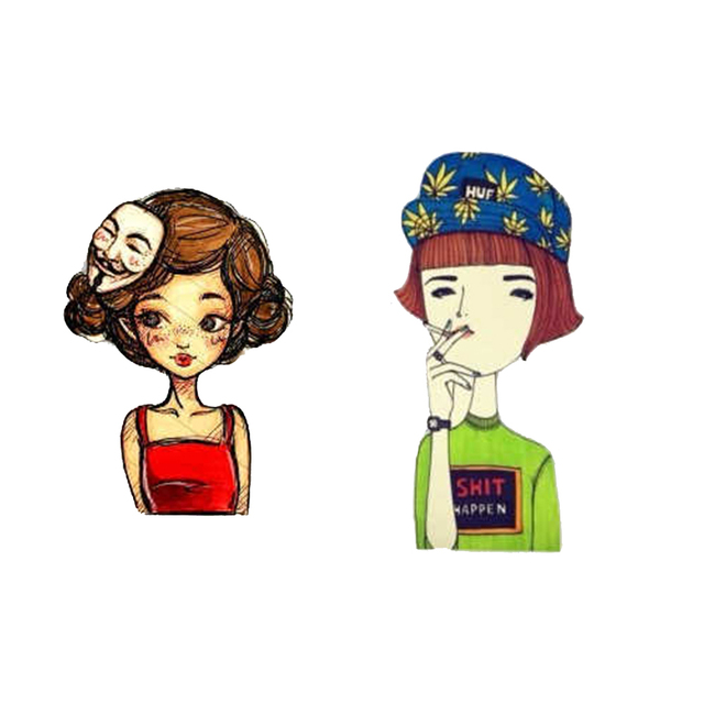 Fashion Brooch Pins for Woman Brooches Cute Girls Cartoon Models Acrylic Brooches Kawaii Clothing Jewelry Accessories