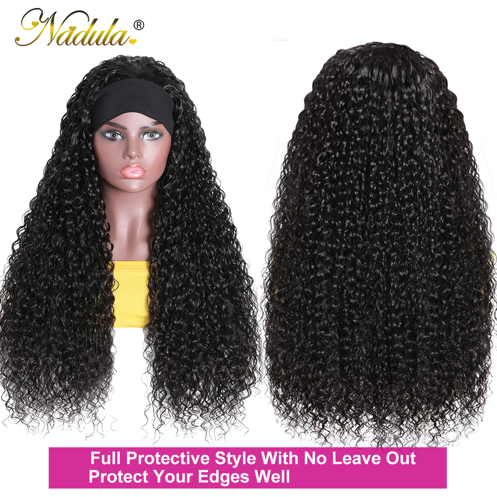 Perfect Fit Culry Hair Headband Wigs for Black Women 150% Density Super Natural Half Wig Curly  Wig Nadula Product 4