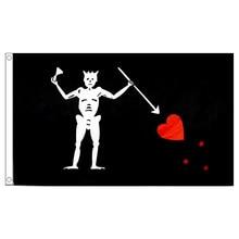 Frete grátis xvggdg 90*150cm barba preta edward ensinar bandeira pirata dia das bruxas atividades qualidade poliéster