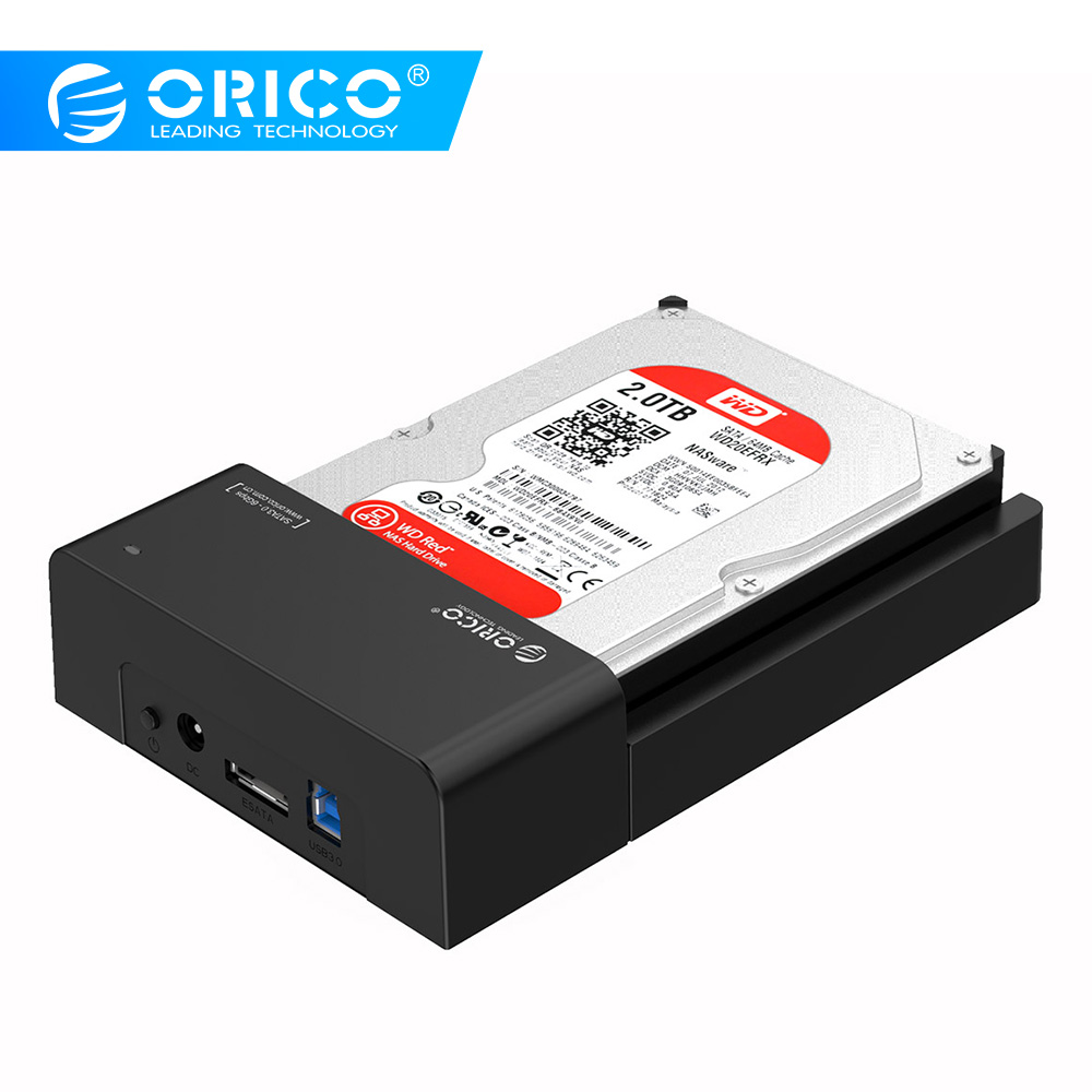 ORICO 2.5 3.5inch HDD Caddy Tool-Free SATA To USB Type B ESATA External SSD Enclosure Up To 8TB HDD Docking Station For Laptop