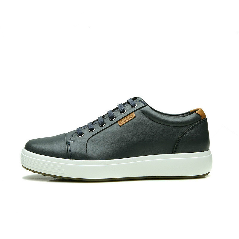 2019 ECCO Sports And Leisure Men's Leather Shoes, Fashionable Soft And Comfortable Wear-resistant Shoes, Men Casual Shoes 430004