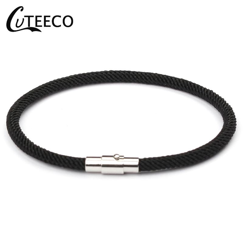 CUTEECO Adjustable Leather Charms Female Bracelet For Men & Women Wrap Jewelry Magnet buckle Anchor bracelet