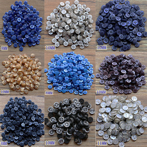 100 pieces of resin button clip round mixed four hole suitable for clothing DIY button bag accessories