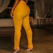 Брюки женские с завышенной талией узкие брюки карандаш желтого