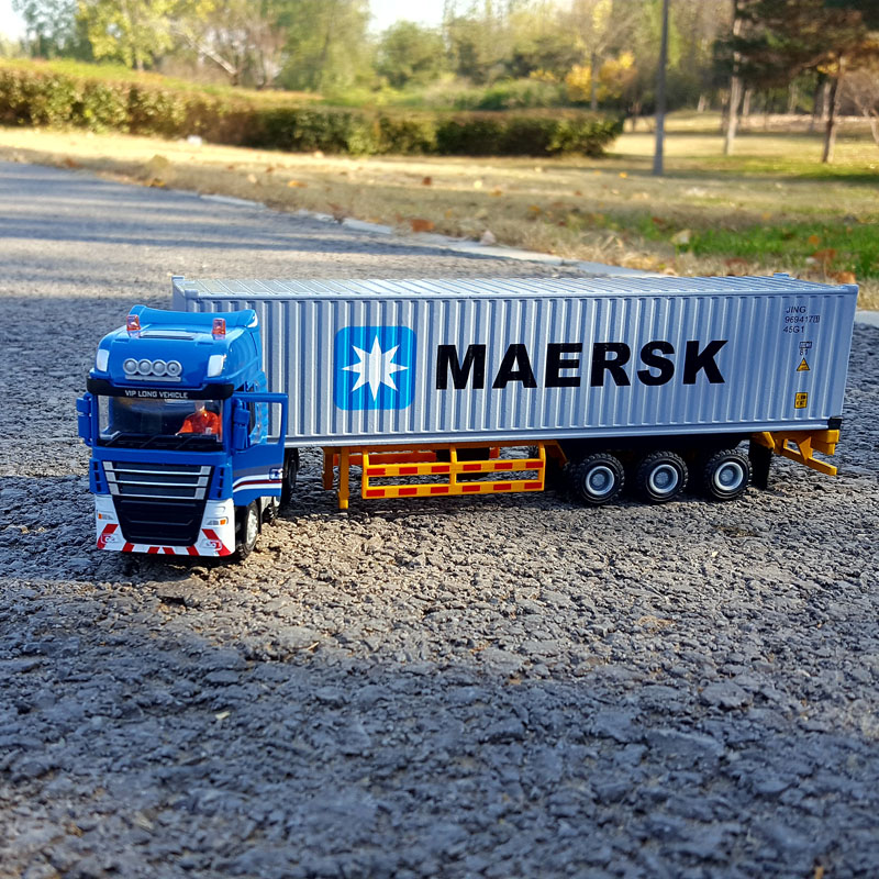 1:50 container logistics alloy simulation model car gift collection furnishing articles toy...