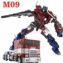 Transformacja WJ 30CM OP dowódca M09 M-09 Diecast Oversize TW SS led stop światła figurka zabawkowe roboty