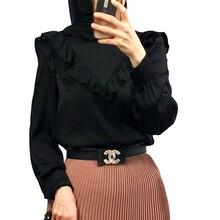 Islamic Clothing Kaftan Musulim Shirt Tops Blouse Women Long-Sleeves Dubai Camisas Chemisier