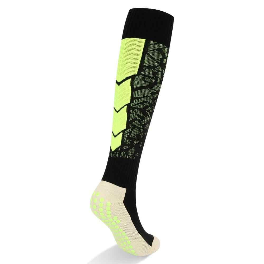 Männer Baumwolle Kissen Nicht-slip Lange Knie-hohe Fußball Socken Fußball Socken 1 Paar